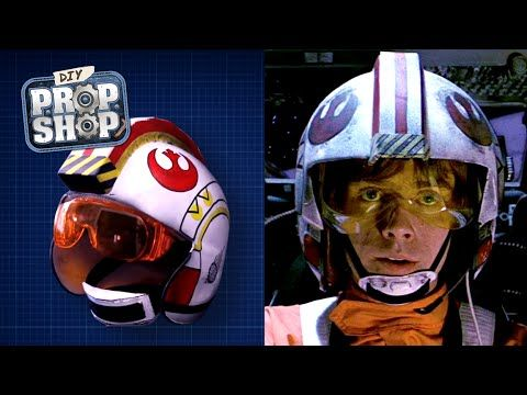 bcbce4c1185 How to Make a Low-Budget 'Star Wars' X-Wing Pilot Helmet | Laughing ...