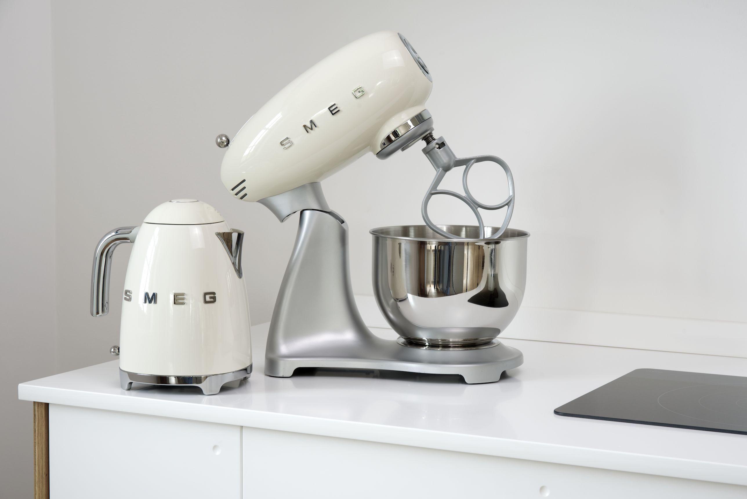 John Lewis Kitchen Appliances Photoshoot Of Our Air Kitchen With Smegs Lovely New Retro Kettles