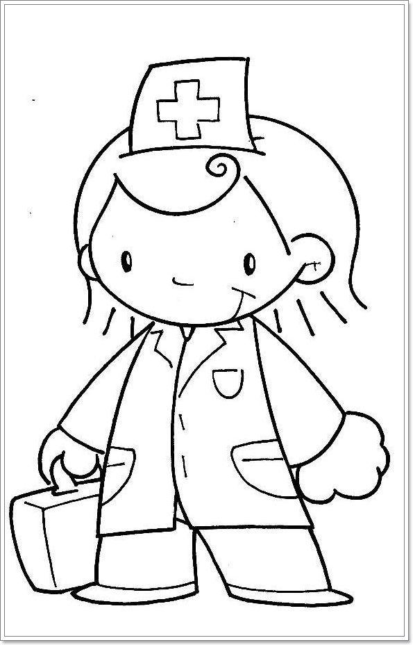 kleurplaat dokter kleurplaten knutselen thema ziek zijn