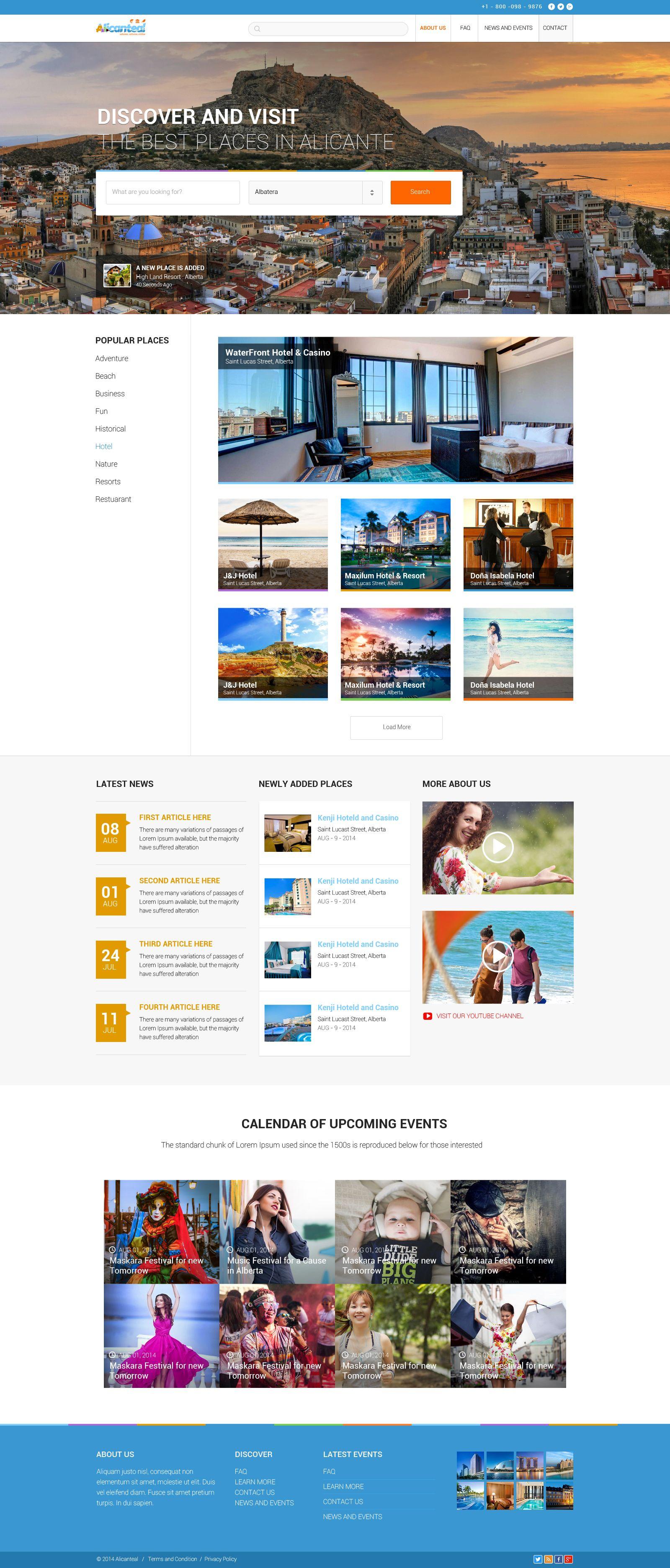 Alicanteal Travel Website Design Website Design Inspiration Website Design