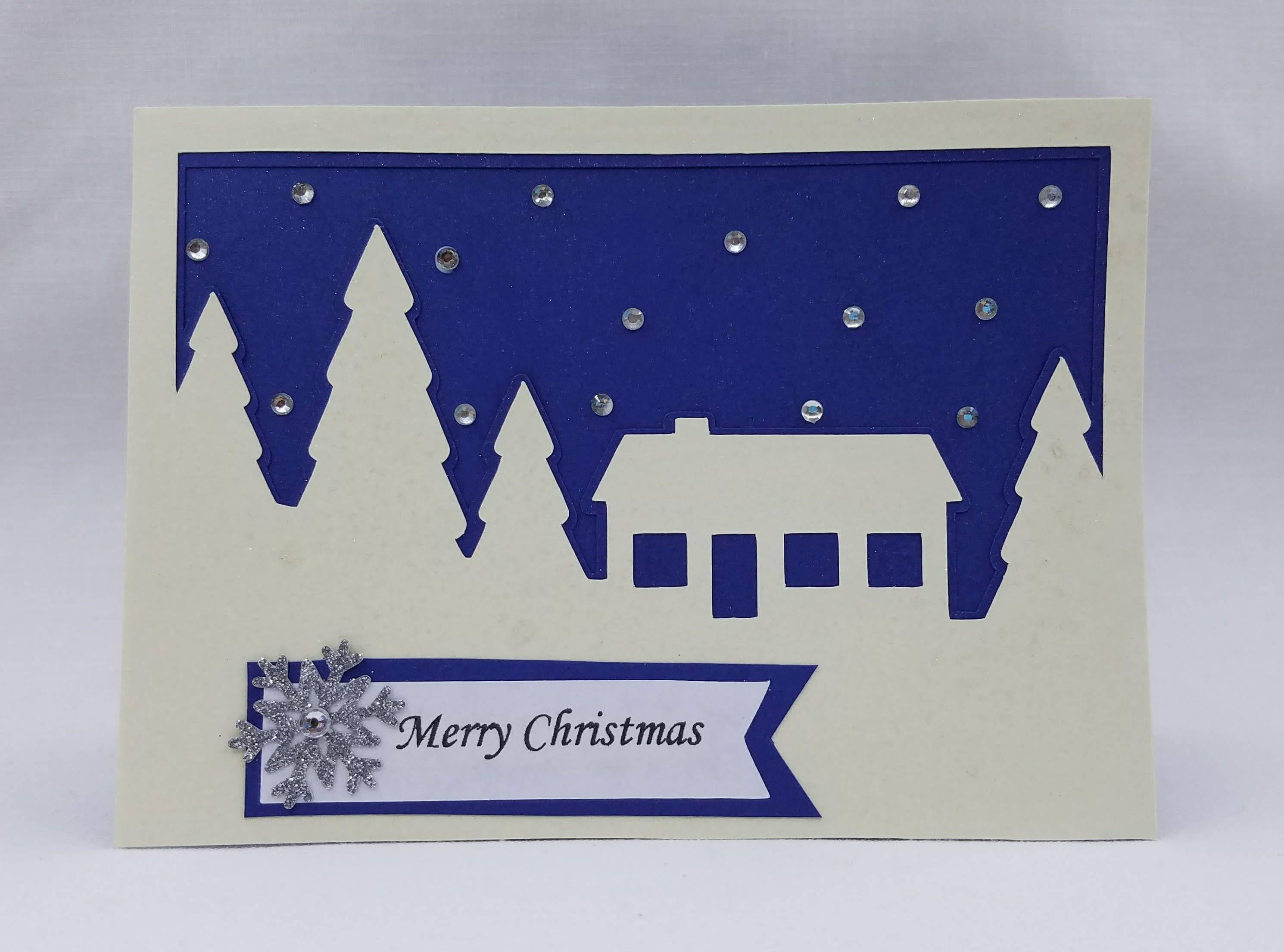 Merry Christmas Handmade Greeting Cardhappy Holidays Greeting Card