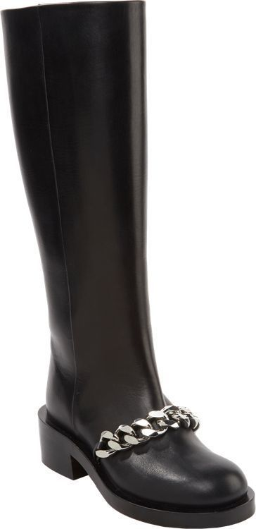 Givenchy Chain-Link Knee-High Boots clearance cheap YnRCl2Wa8s