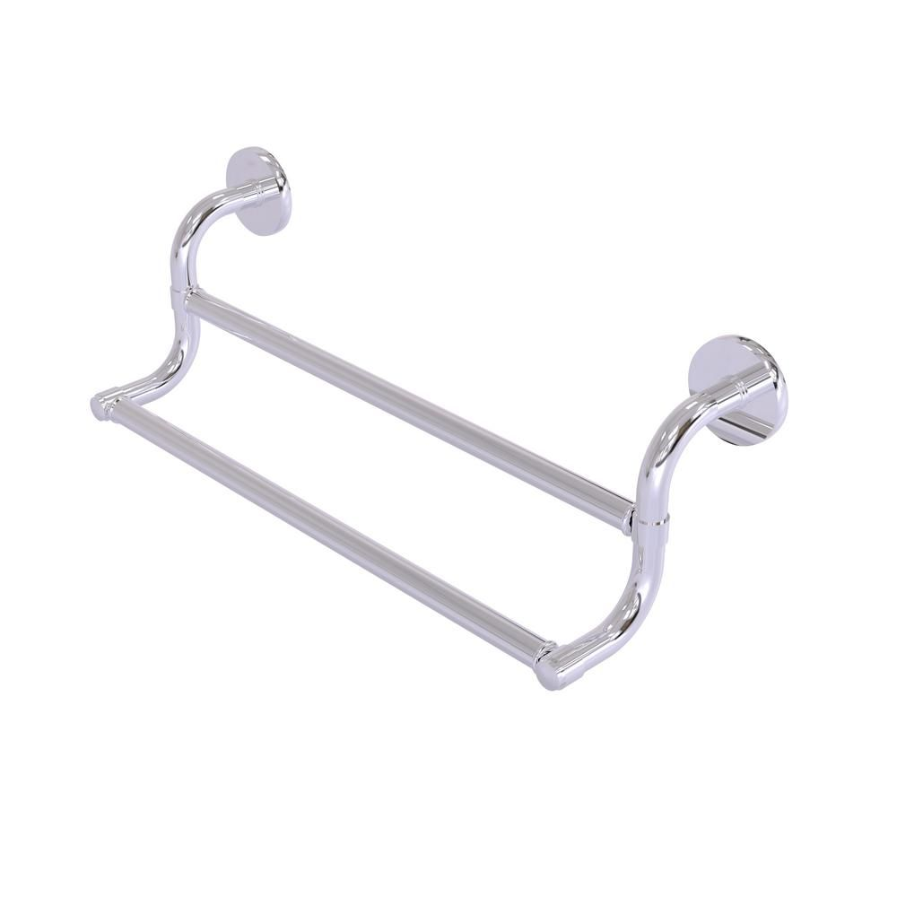 Allied Brass Remi Collection 36 In Double Towel Bar In Polished Chrome Polished Nickel Polished Chrome Wall Mounted Shelves