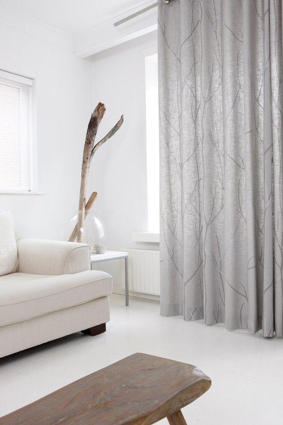 Artelux gordijnen Tree - grijs, naturel Www.onlinegordijnenshop.be ...