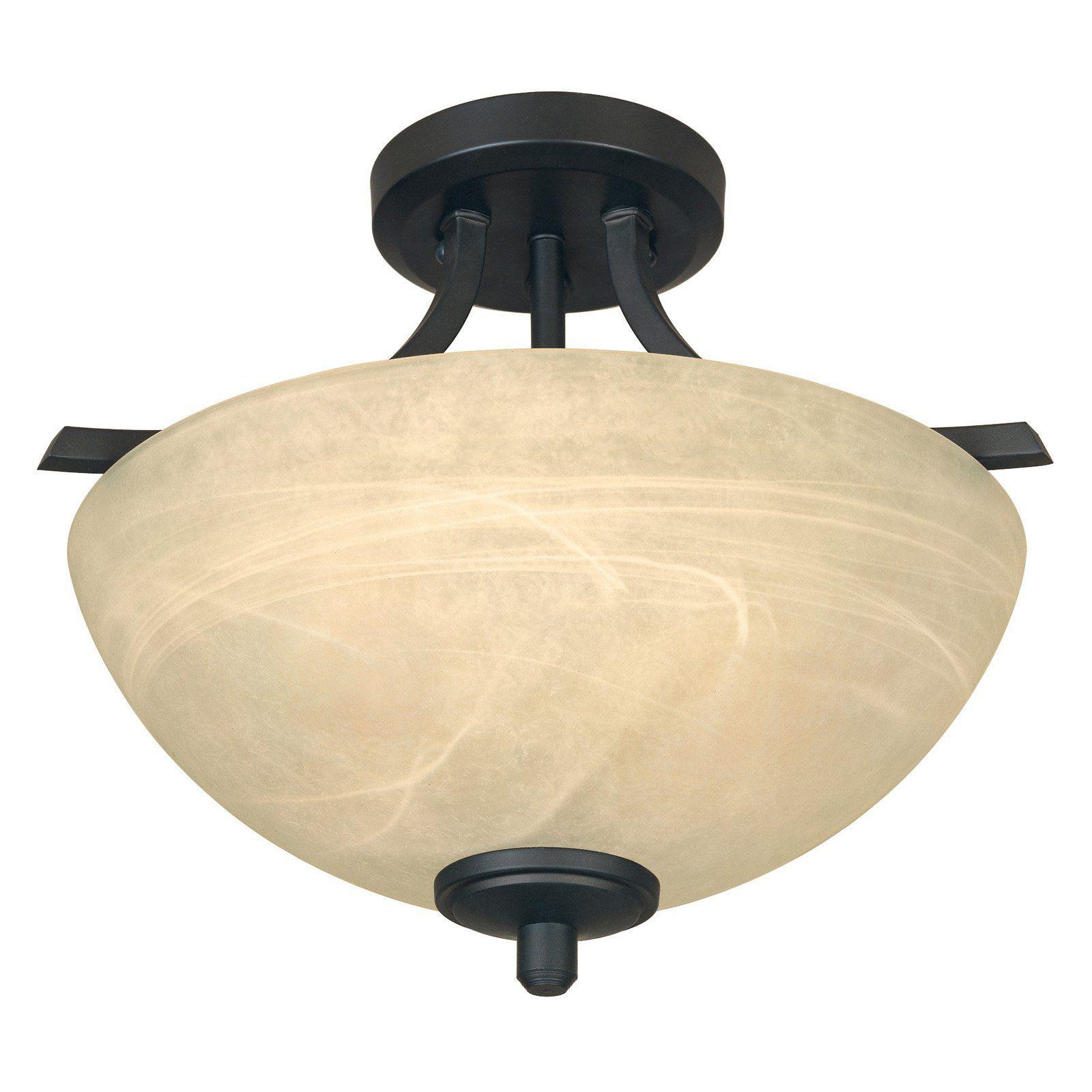 Designers Fountain 82911 Tackwood Semi Flush Light  82911 Bnb