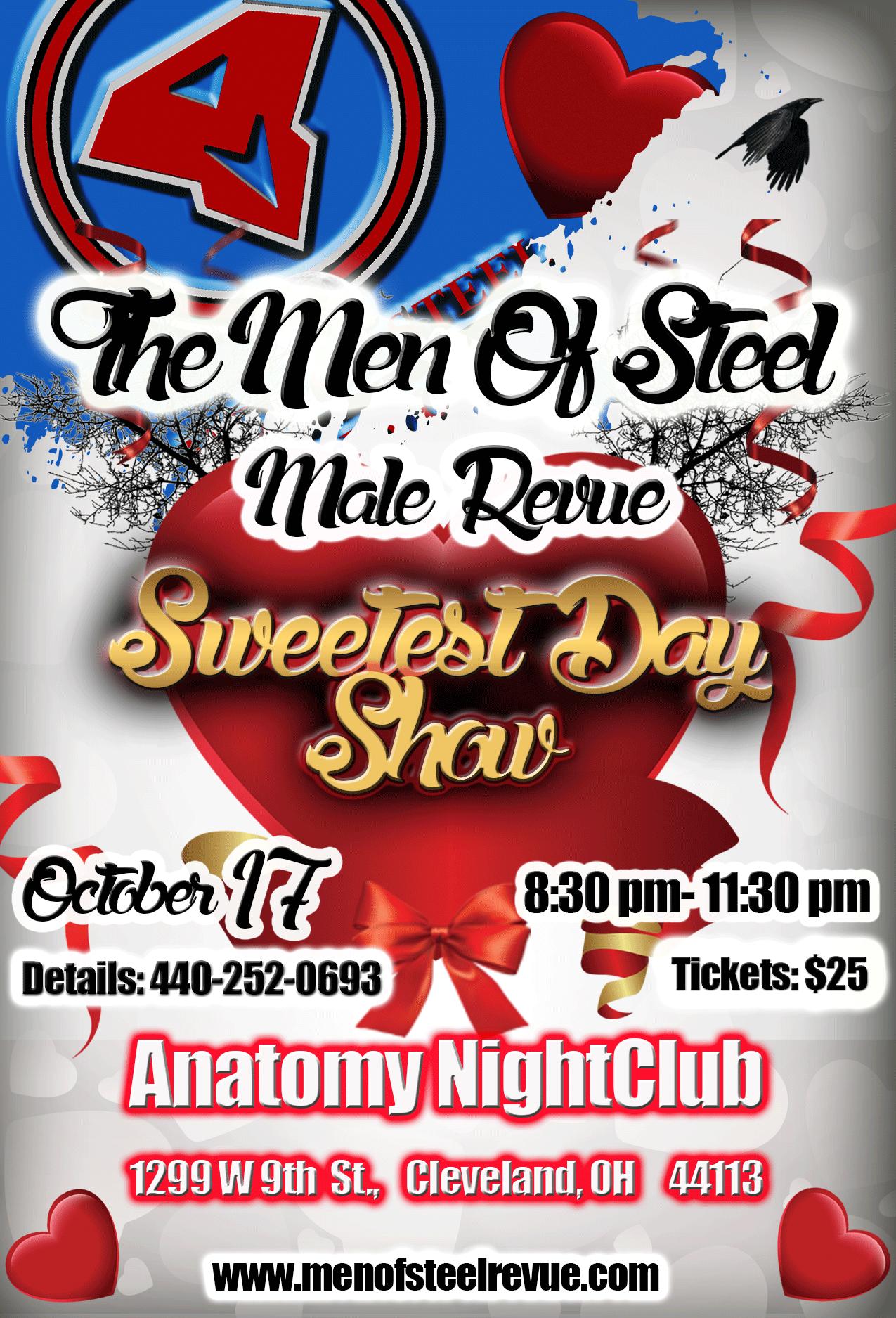 Men of Steel Male Revue Sweetest Day Show October 2015 Strippers ...