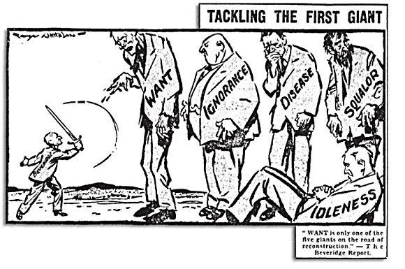 Beveridge's  five giant evils: cosa deve combattere lo stato per arrivare a essere un vero Stato Sociale
