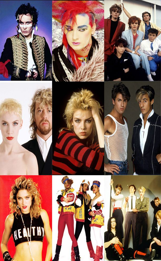 Details About 80s Party Decoration 10 X 80s Pop Stars And Bands