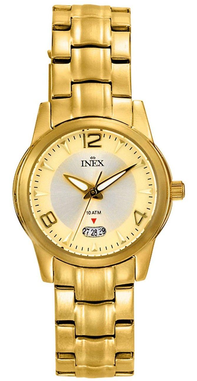 Lille ur til kvinder guld - INEX Dame Doublé Lænke A69369D7I