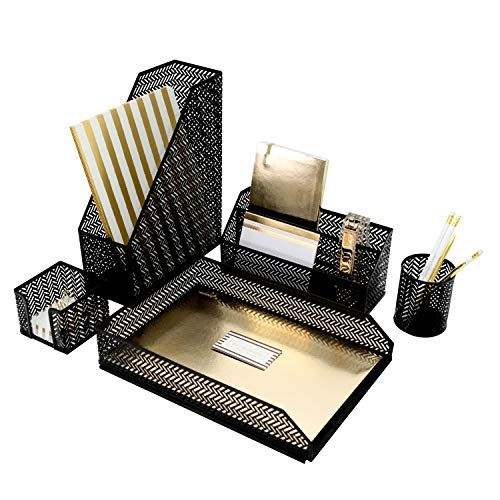 Pin By Taylor Hummel On Office Organization Desk Organization Desk Organizer Set Magazine File Holders