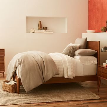 Simple Bedframe   Mid Century Bed   Acorn #westelm