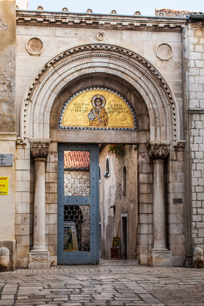 Entrance to Euphrasian Basilica, Porec, Croatia