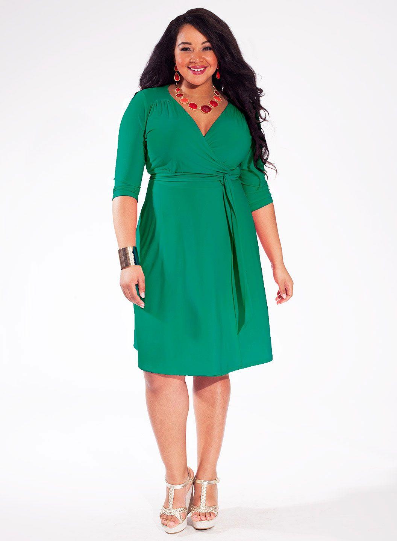 Jade color plus size dresses