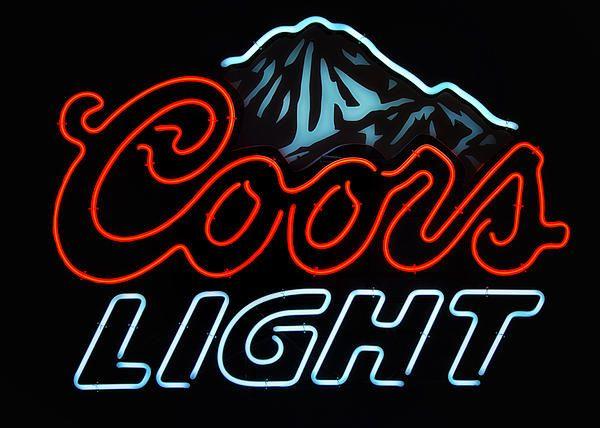 Coors Light Sign By Linda Tiepelman Coors Light Neon Light Signs Coors