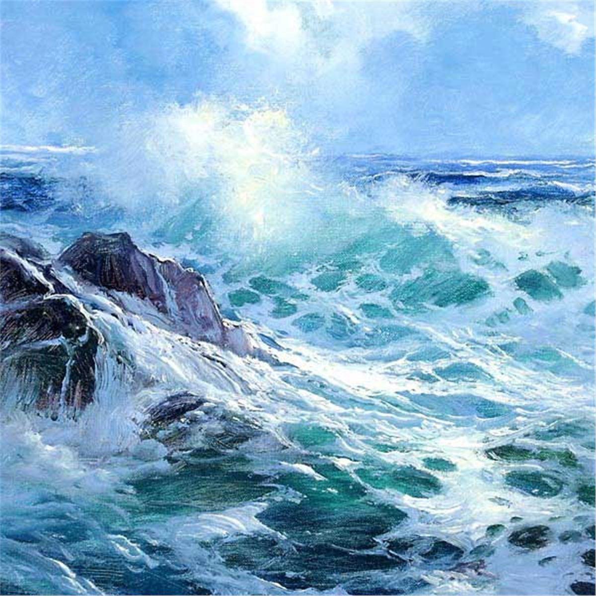 E John Robinson Painter Of The Seas La Mer Peinture Mer