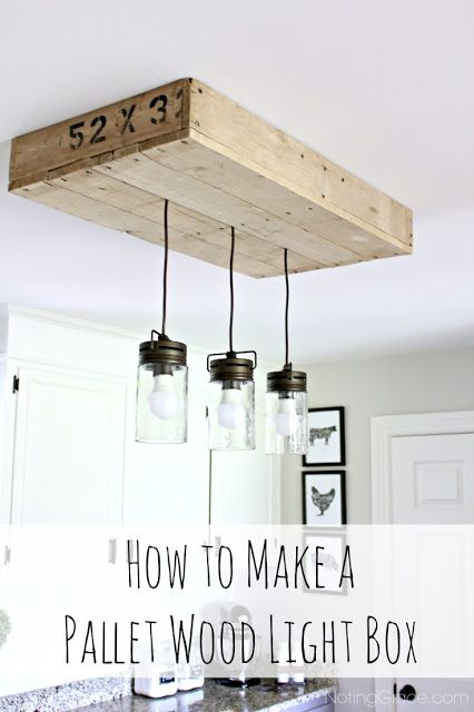 Pallet Light Box For Your Kitchen Island Pallet Light Diy