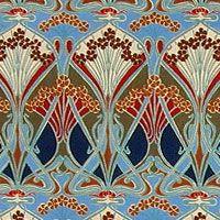 Womanzine 2 0 Patternvomit Art Nouveau Poppies Wallpaper