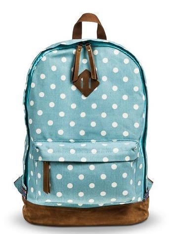 Blue Polkadot Backpack | Backpack | Pinterest | Backpacks, Mint ...