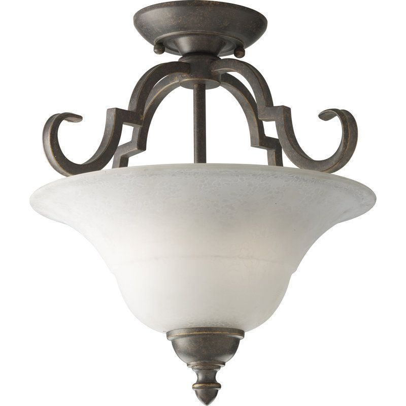 "Bathroom Lighting Fixtures Melbourne progress lighting p3885 melbourne 16-1/2"" two-light semi-flush"