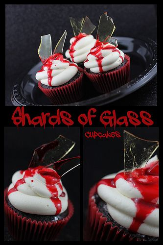 Shards of Glass Cupcakes Halloween costume Pinterest Holidays - cupcake decorating for halloween