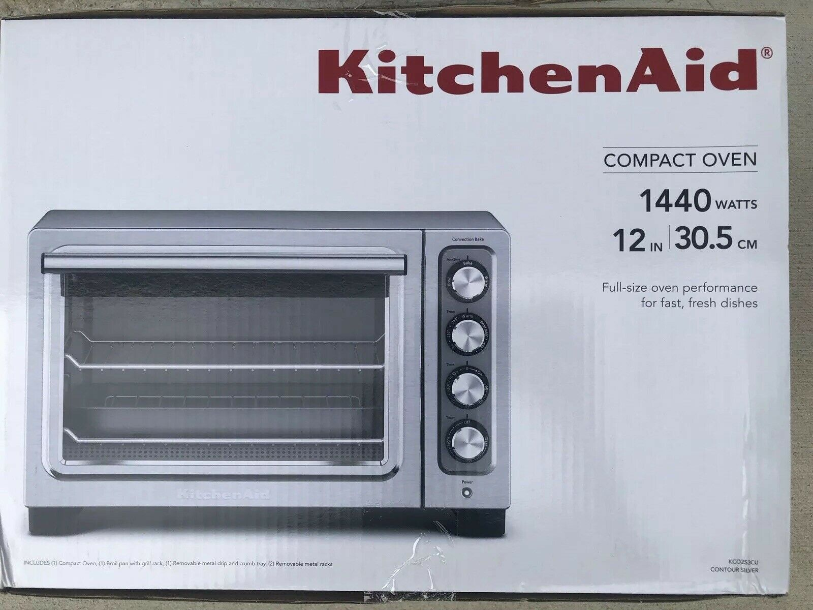 Brand New Kitchenaid Compact Convection Oven Factory Sealed