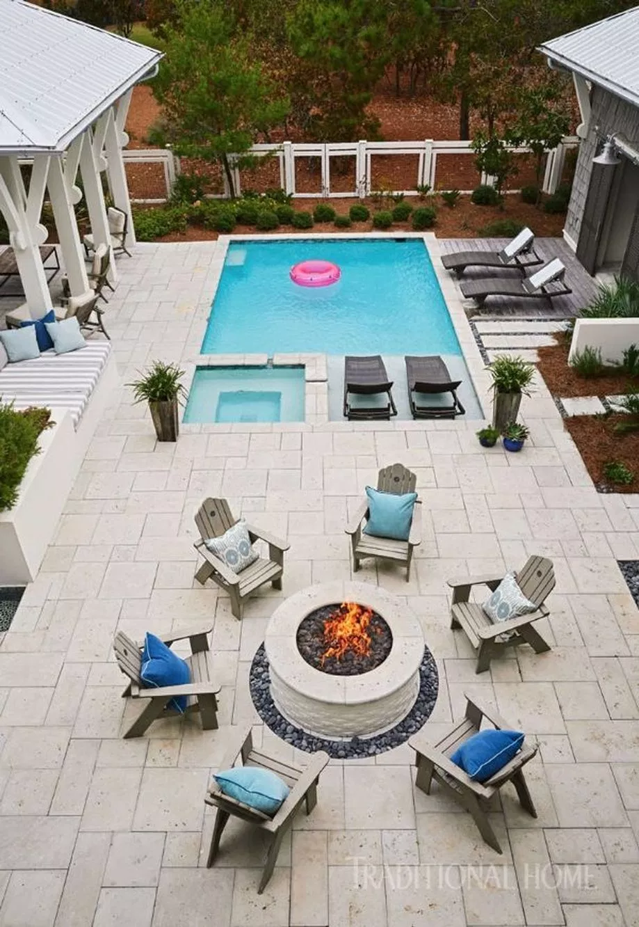 Awesome Small Pool Design For Home Backyard 60 Hoommy Com Small Pool Design Backyard Layout Small Backyard Pools
