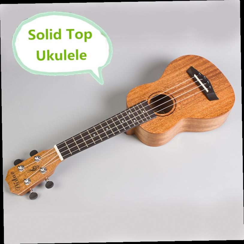 49.66$  Watch now - http://alih15.worldwells.pw/go.php?t=32698606787 - Solid Top Soprano Concert Ukulele 21 23 Inch Guitar 4 String Ukelele Guitarra Handcraft Wood Diduo Mahogany Uke 49.66$