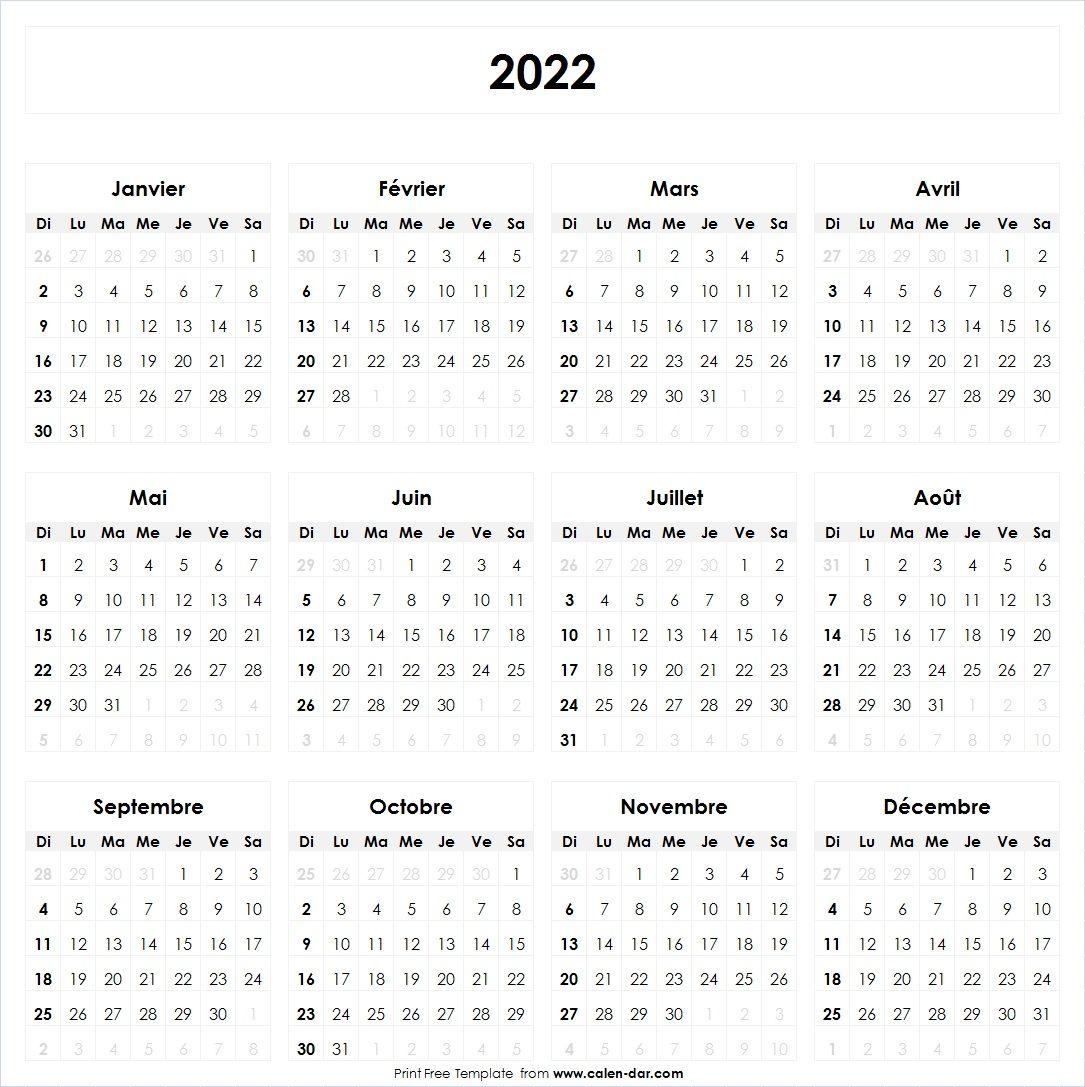 Calendrier 2022 | Bullet journal 2020, Calendar printables, Journal
