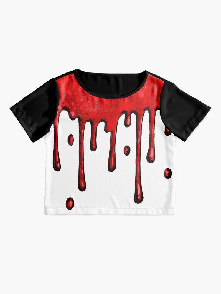6bc65f27e5 Bleeding | Blood Drip T-shirt Design | Creepy Tee Design | Spooky Graphic T- shirt | Women's Chiffon Top by SaraVLeoni | Redbubble #redbubble  #graphictshirt ...