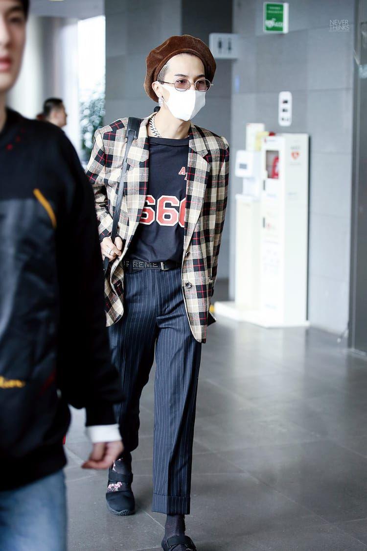 Kpop Taehyun And Sanghoon Image Celebrity Shirts Mino Airport Fashion Idol Style