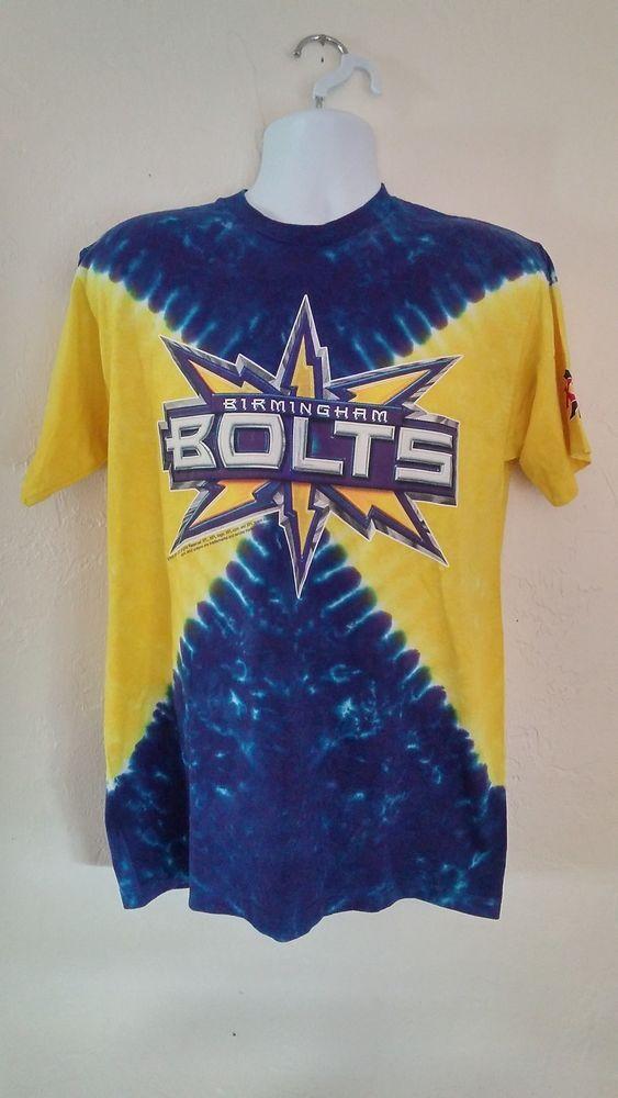 XFL Birmingham Bolts Adult Mens M Liquid Blue Tie Dye Tshirt NWT #Unbranded  #BasicTee
