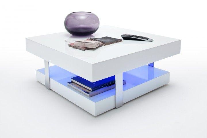 Weißer Couchtisch Inklusive Led Beleuchtung Weiß Möbel Couchtisch
