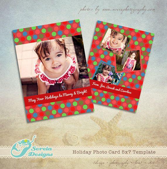 Christmas Card Photoshop Template PSD