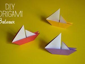 Diy Origami Bateau Mer Origami Papier Origami Et Papier