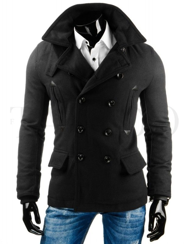 Pánský kabát ROCCO - černý  bd3ff688f30