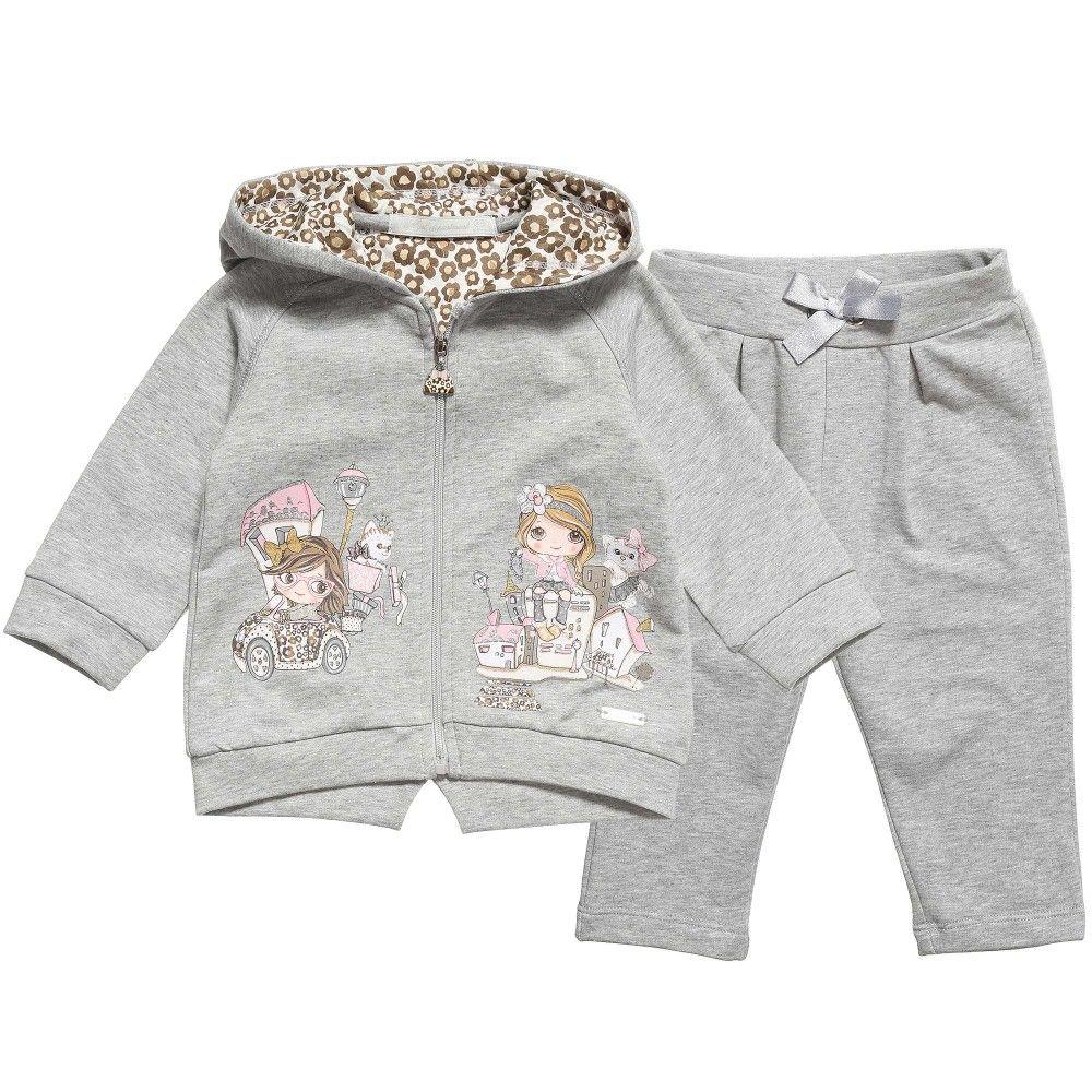 49e53c75434d Mayoral Baby Girls Grey Jersey Tracksuit at Childrensalon.com