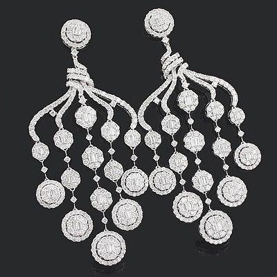 Designer Diamond Chandelier Earrings 15.88ct 18K Gold | Diamond ...