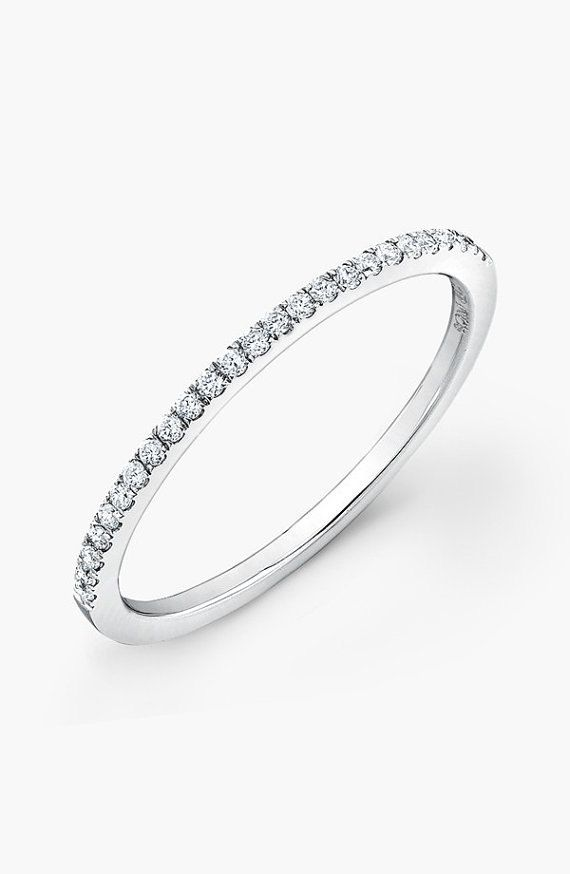 Micro Pave 925k Silver With Cz Stone Half Around Wedding Band Engagement Ring T Diamond Wedding Bands Stackable Diamond Bands Eternity Band Engagement Ring