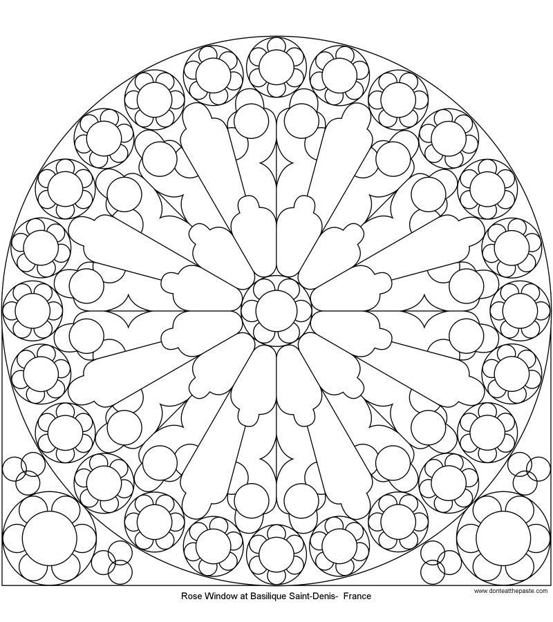 Diy And Crafts Notre Dame Cathedral Drawing Rose Window Mandala