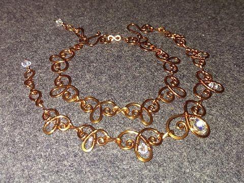 Tutorial Wire Bracelet Flower Handmade Jewelery You