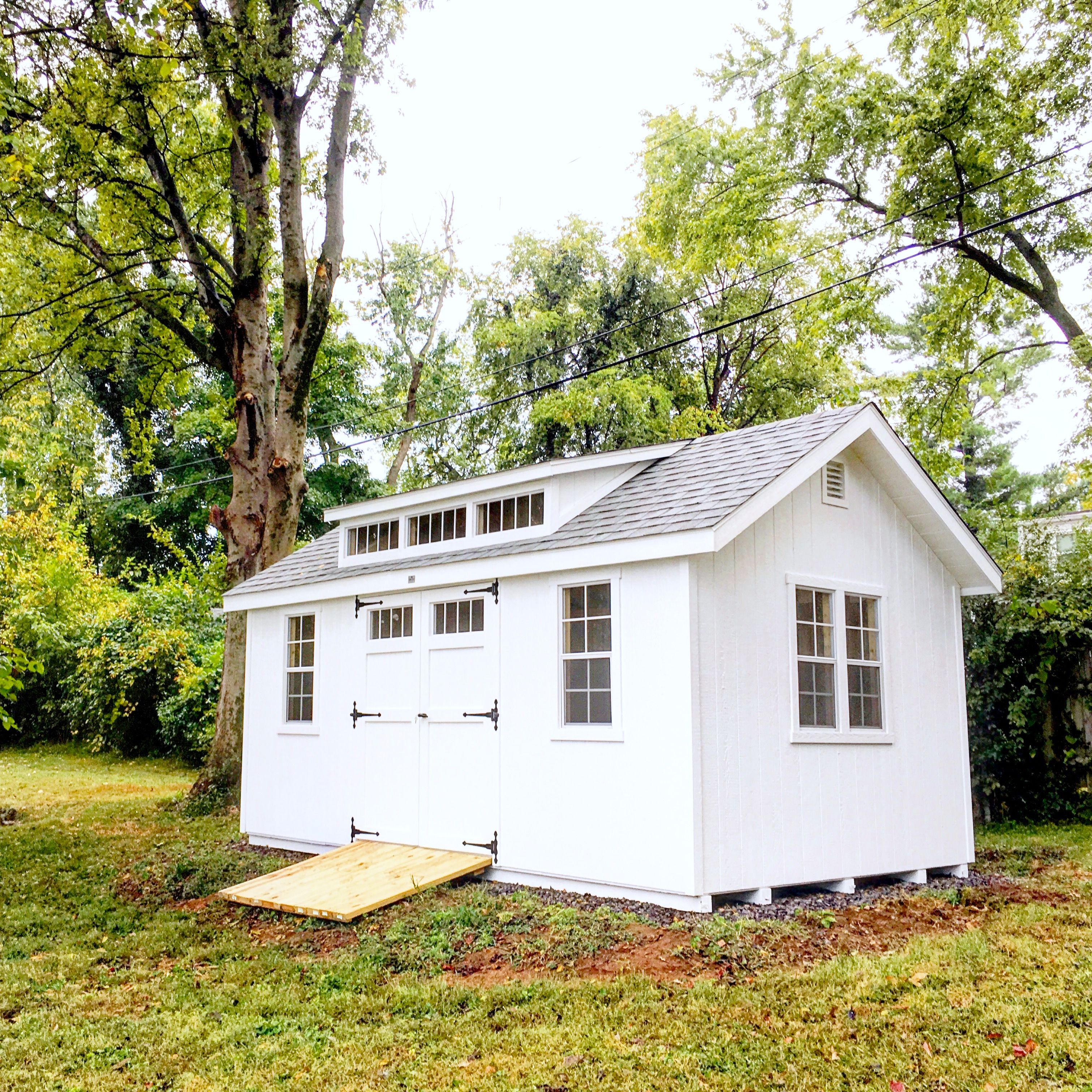 Classic A-Frame Storage Shed  Amish Built with a custom