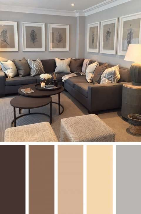 11 Fantastic Living Room Color Scheme Examples Neutral Beige Walls Photos Living Room Decor Colors Room Color Combination Grey And Brown Living Room