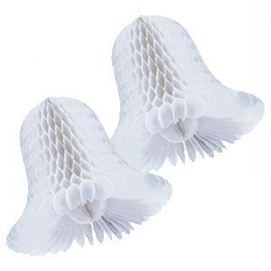 Honeycomb Wedding Bells- White 15 Inch 2ct  $6.25 (2 pcs)