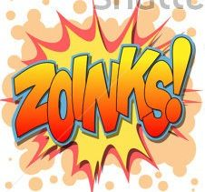 A Selection Of Comic Book Exclamations And Action Words ZOINKS