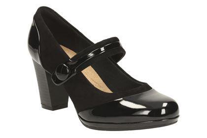 Clarks Brynn Mare schwarz Combi Damenschuhe Smart Schuhes Schuhes Smart   Clarks ... 313aae