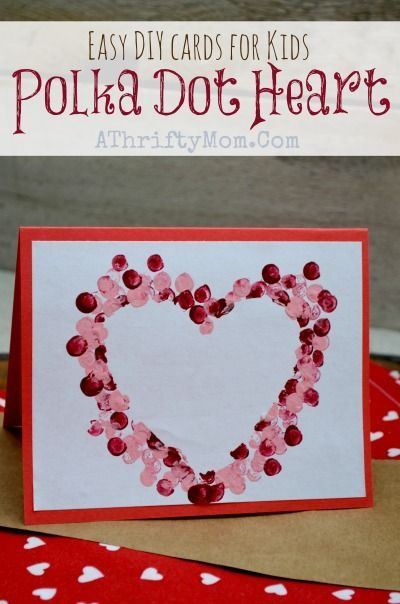 Easy DIY Card ideas Polkadot heart Card perfect for Valentines