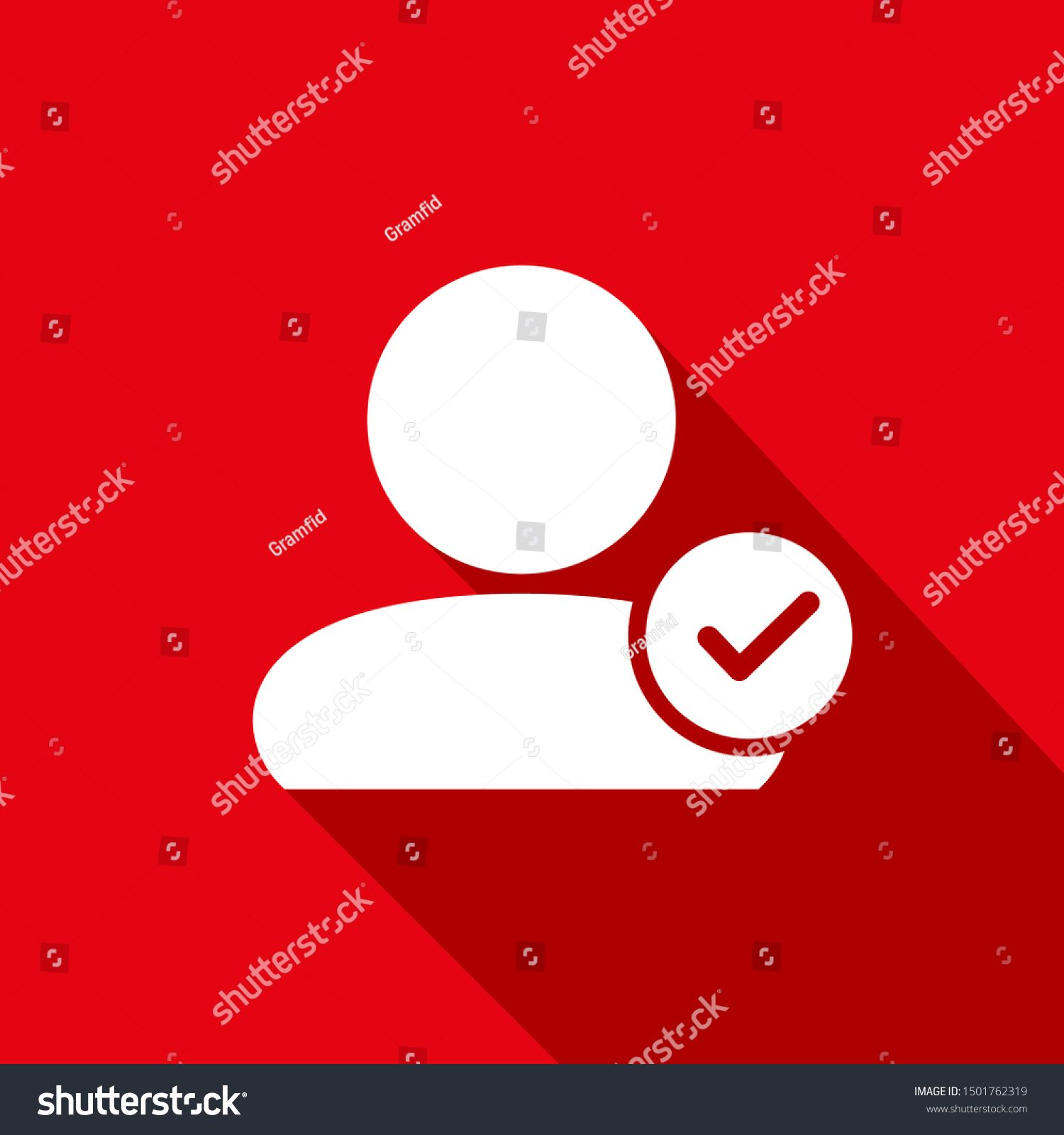 User Profile Sign Web Icon With Check Mark User Authorized Vector Illustration Design Element Flat Style Des In 2020 Vector Illustration Design Web Icons Icon Design