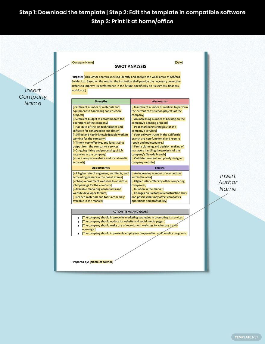 40 Free Swot Analysis Templates In Word Demplates Modeles De Powerpoint Swot Modele Presentation Powerpoint