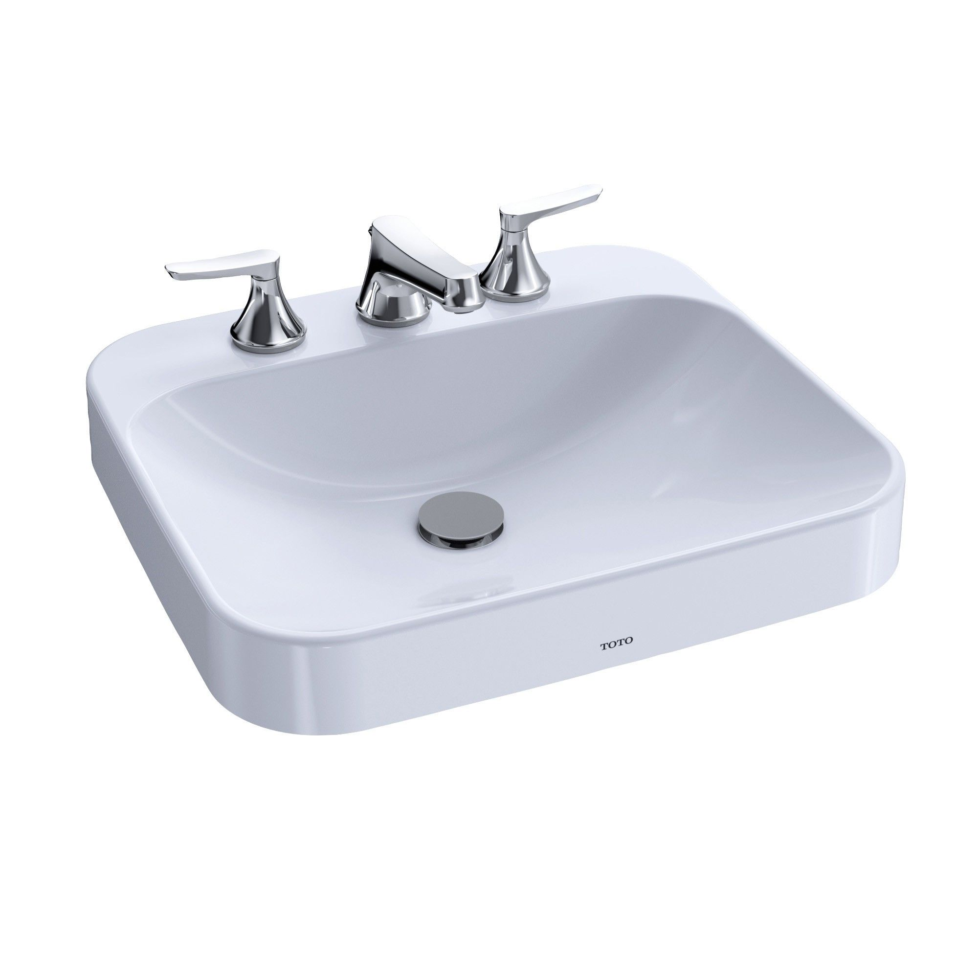 Toto Arvina Rectangular 20 Vessel Bathroom Sink With Cefiontect For 4 Inch Center Faucets Cotton White Lt415g 4 0 Drop In Bathroom Sinks Sink Bathroom Sink