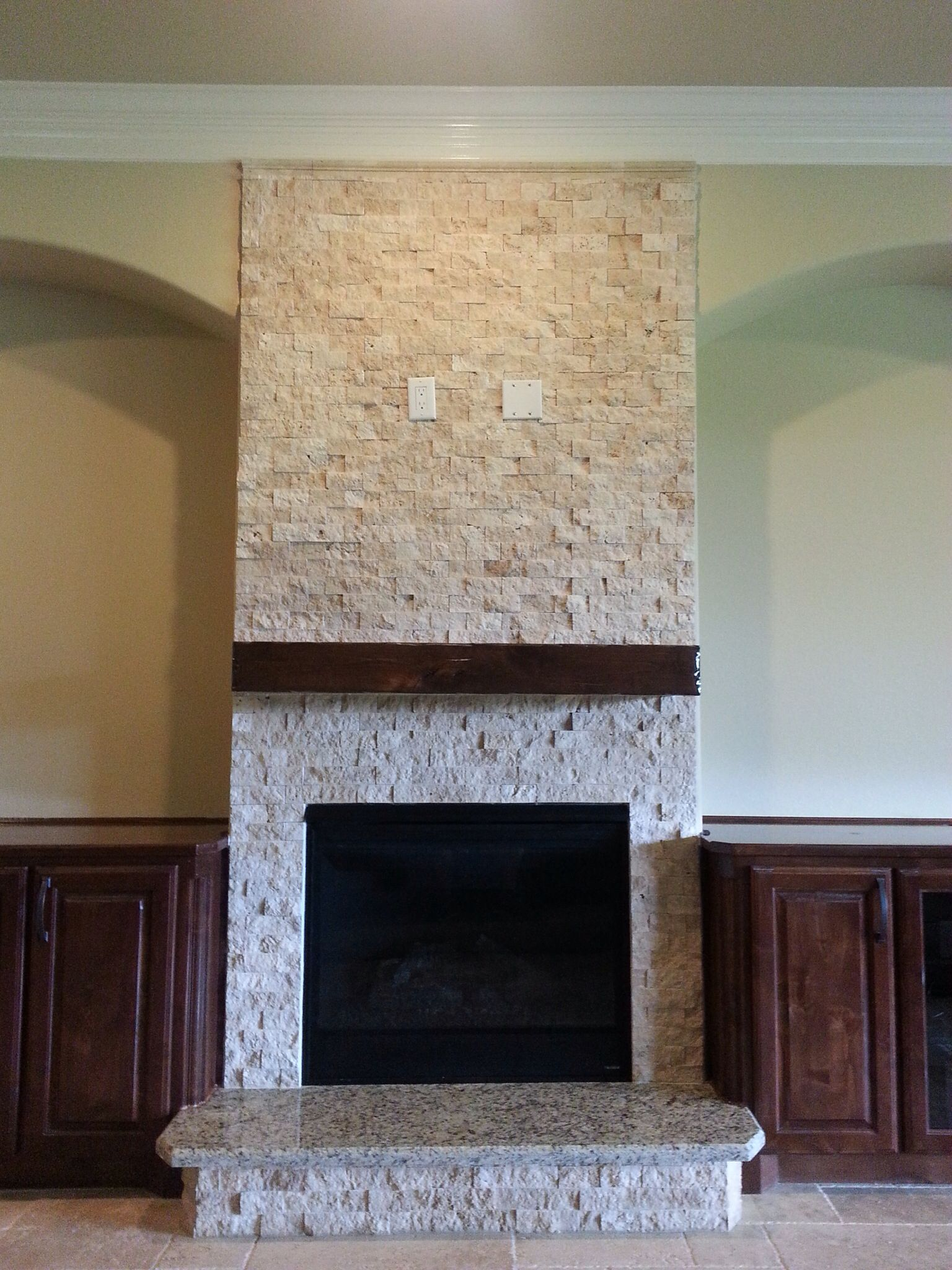 fireplace mantel beam. Knotty alder distressed fireplace beam mantel by Sundance Mantels